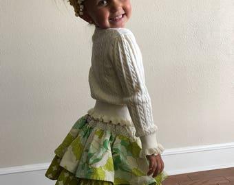 Twirly, ruffled skirt