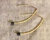 Hematite Almond Earrings