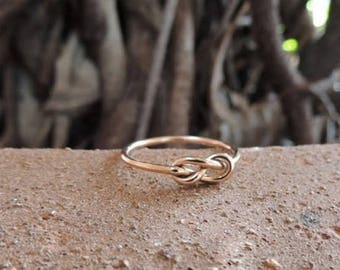 Best Friends Ring Gift Set - Forget me Knot Ring - BFF Rings - 3 Memory Knot Rings - Best Friend Gift - Best Friends Forever - Gift for Her