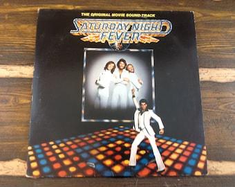 Saturday Night Fever The Original Movie Sound Track Vintage Vinyl Record LP 1977