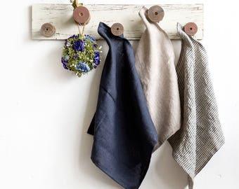 Linen hand towels set of 6 - Pure linen dish towels - Eco linen towel - Kitchen towel - Linen tea towel