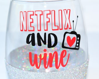 Gift for Wife / Gift for Girlfriend / Netflix Gift / Netflix and Chill / Gift Ideas for Her / Netflixing / Netflix and Wine