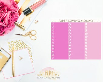 February Label Stickers | Planner Stickers designed for use with the Erin Condren Life Planner
