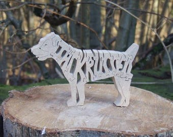 Jack Russell jigsaw, Jack Russell puzzle, Jack Russell gift, Jack Russell ornament, Jack Russell memorial, gift for dog lover
