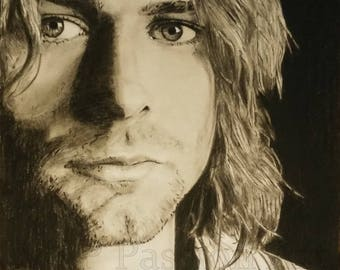 Pencil portrait of Kurt Cobain