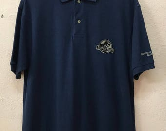 Vintage Jurassic Park Universal Studios Japan Embroidered Logo Polo Tshirt Movie / Film
