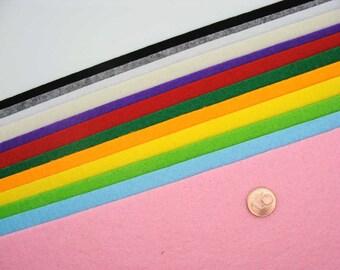 Feutrine 3mm  plaque 29x29cm Feutre couleurs au choix DIY loisirs créatifs mercerie couture