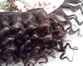 """mohair weft curly brown, doll hair, 200-230"""" (5-6 m), 100 g"""