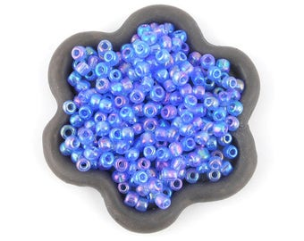 20grs shiny blue seed beads 3mm (14)