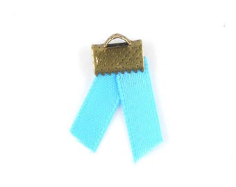x2m (43A) 5mm turquoise satin ribbon
