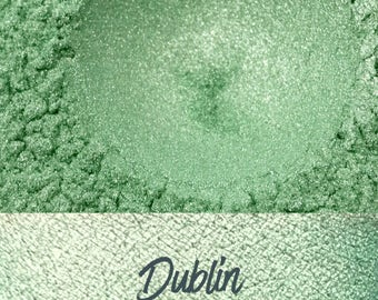 Dublin, Green Loose Pigment, 10 gram jar, Mineral Eye shadow Pigment