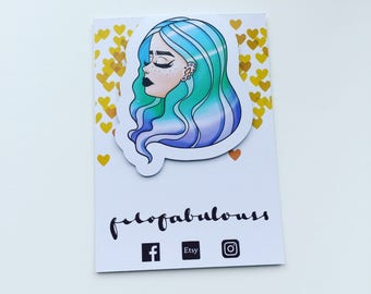 Ombré Hair Magnetic Book Mark - Page Marker