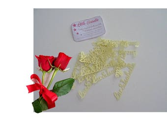 Scrapbooking names cut out decoration wedding christening