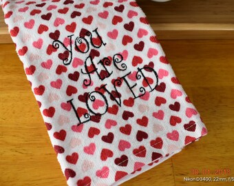 You Are Loved - heart towel
