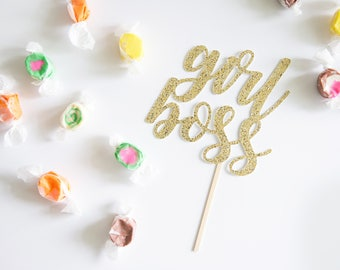Girl Boss Cake Topper, Glitter Party Decorations, New Job Promotion, Sisterhood, Female Entrepreneur, Professional Management, Leadership