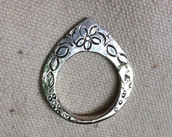 Pretty silver ring/pendant - Bedouin/Nubian - handmade in Cairo
