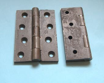 Refurbished 4 ins cast iron Victorian hinges