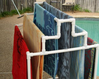 6 Towel Pool Rack