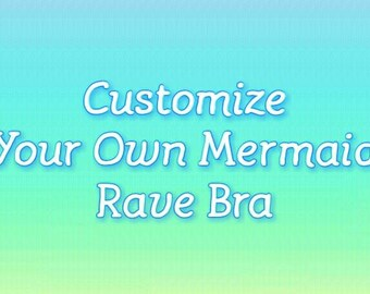 Mermaid Rave Bra - Made To Order | Opalescent Iridescent | Belly Dance | Pastel Neon | EDC Outfit Festival Top