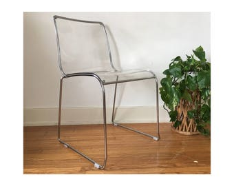vintage lucite chair calligaris irony lucite chair mid century modern steel and lucite dining