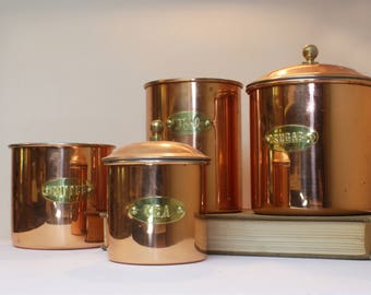 Set Copper Canisters