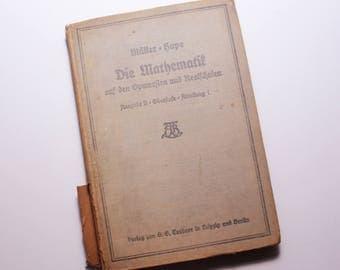 """1915 German Mathematics - """"Die Mathematif"""""""