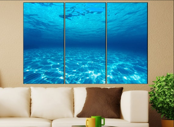 Underwater sea canvas wall art  Underwater canvas wall art art Underwater wall decoration Underwater large canvas wall art