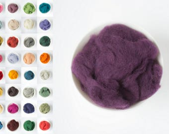 Wool roving 33 colors / wool roving for needle felting / felting wool / crafts and supplies wool / merino wool roving / roving for felting