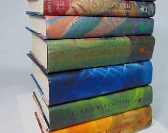 Vintage HARRY POTTER First Edition Complete Set (7) Hardcover BOOKS J.K. Rowling - Like New Condition!