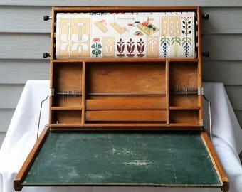 Antique Chautauqua Industrial Art Desk