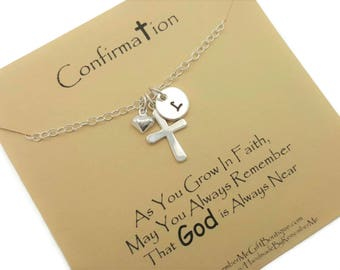 Confirmation Gift, Personalized Catholic Gifts, Confirmation Necklace, Custom Confirmation, First Communion Jewelry, Goddaughter Gift