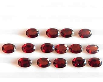 Red Garnet oval cut 25 pcs lot Natural Garnet oval cut faceted loose gemstone for jewelry