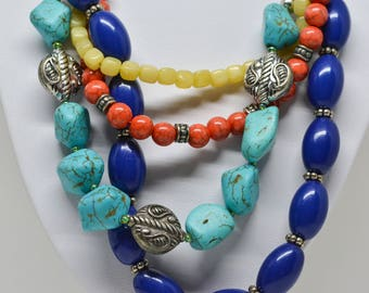 Beautiful multi color beaded necklace