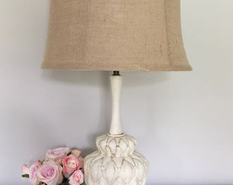 Vintage Hand Painted Table Lamp with Shade