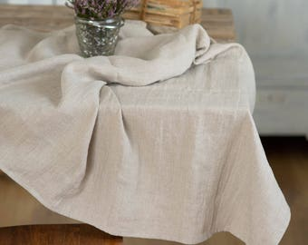 Linen table cloth, Easter tablecloth rectangle, Wedding table cloth, Long Easter tablecloth, Table cloth farmhouse, Burlap table cloth