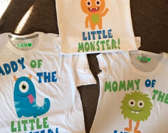 Little Monster Birthday shirts