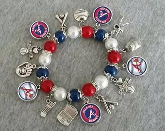 Atlanta Braves charm bracelet