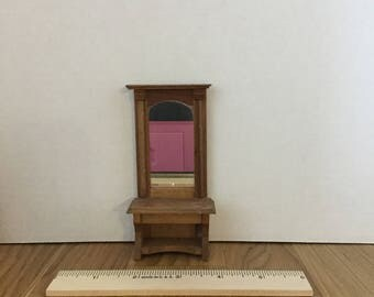 Dollhouse mirror stand
