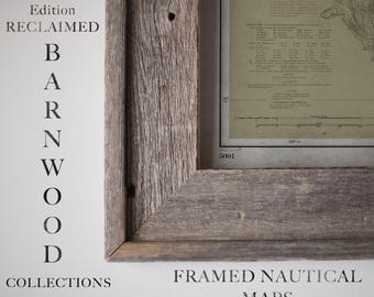 Barnwood Frame Collection : Nautical Maps - Framed and Finished