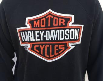 VTG 1980's Harley Davidson logo sweatshirt