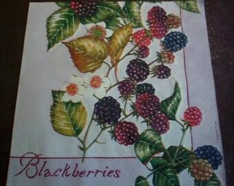 Mature 4 paper napkins, red fruits paper napkins