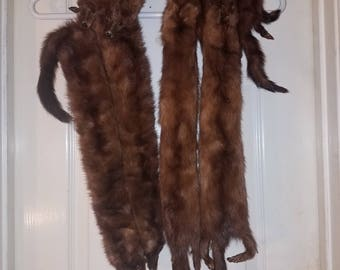 Mink Stole/Scarf 6 full pelts vintage from the 1920's