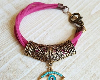 CLEARANCE Evil Eye Bead Bracelet