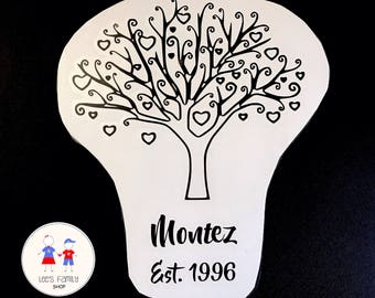 Personalized Family Tree Decal