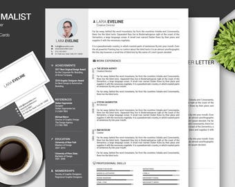 Sample Resumes 2014 Minimalist Resume  Etsy Business Resume Template Pdf with High School Resume Template For College Minimalist Resumecv And Business Card Template Good Looking Resumes Excel