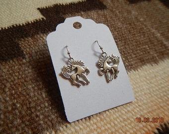 SIlver-tone Unicorn Dangle Earrings