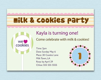 MIL & COOKIES Party Invite