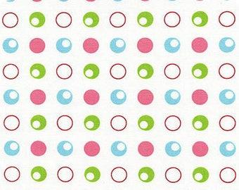 Pack n Play sheets - Travel Lite playard sheet - baby bedding - crib sheet-Pink/Aqua/Green Polka dots