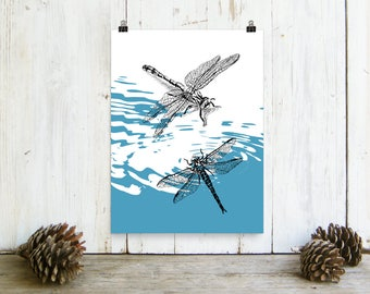Dragonfly Print, Dragonflies Poster, Bedroom Decor, Dragonflies Poster, Hipster Room Decor, Teen Room Decor, Nature Wall Decor, Gift For Her