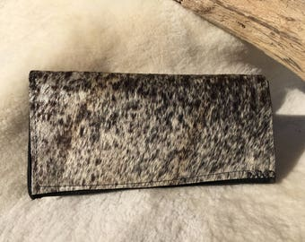 Brindle Cowhide Clutch